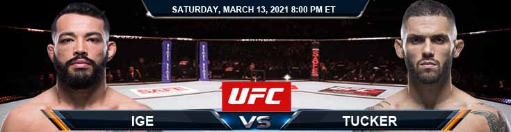 UFC Fight Night 187 Ige vs Tucker 03-13-2021 Spread Fight Analysis and Forecast