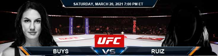 UFC on ESPN 21 Buys vs Ruiz 03-20-2021 Forecast Fight Tips and Results