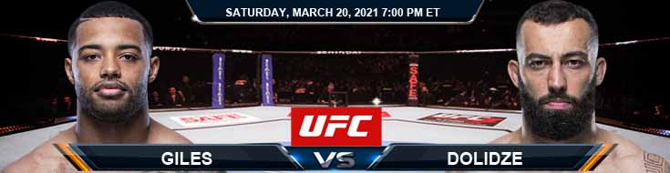 UFC on ESPN 21 Giles vs Dolidze 03-20-2021 Results Analysis and Odds