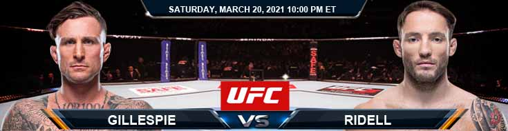 UFC on ESPN 21 Gillespie vs Riddell 03-20-2021 Picks Fight Predictions and Previews