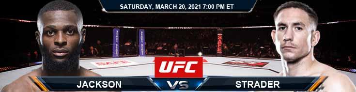 UFC on ESPN 21 Jackson vs Strader 03-20-2021 Analysis Fight Odds and Picks
