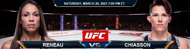UFC on ESPN 21 Reneau vs Chiasson 03-20-2021 Fight Analysis Forecast and UFC Tips