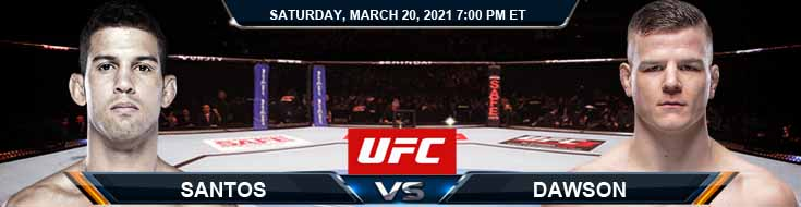 UFC on ESPN 21 Santos vs Dawson 03-20-2021 Tips Fight Results and Analysis