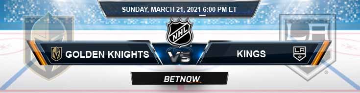 Vegas Golden Knights vs Los Angeles Kings 03-21-2021 Hockey Previews Spread and Game Analysis