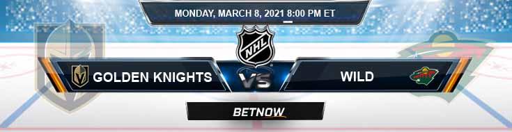 Vegas Golden Knights vs Minnesota Wild 03-08-2021 Hockey Previews Spread and Game Analysis