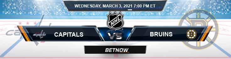 Washington Capitals vs Boston Bruins 03-03-2021 Tips NHL Forecast and Analysis