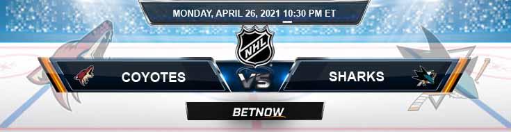 Arizona Coyotes vs San Jose Sharks 04-26-2021 Game Analysis NHL Odds & Spread