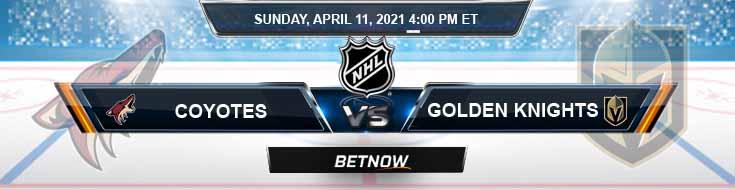 Arizona Coyotes vs Vegas Golden Knights 04-11-2021 Odds NHL Spread & Preview