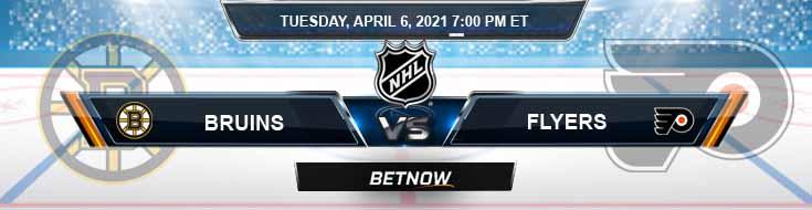 Boston Bruins vs Philadelphia Flyers 04-06-2021 Game Analysis NHL Spread & Odds