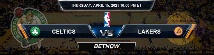 Boston Celtics vs Los Angeles Lakers 4-15-2021 NBA Spread and Picks