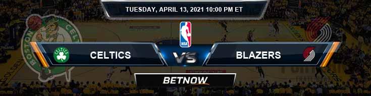 Boston Celtics vs Portland Trail Blazers 4-13-2021 NBA Odds and Picks