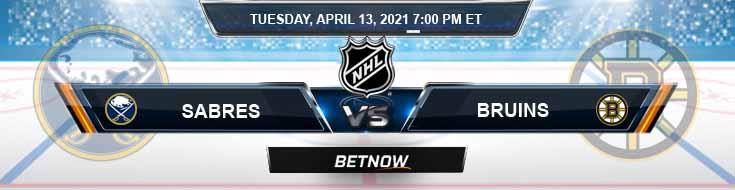 Buffalo Sabres vs Boston Bruins 04-13-2021 NHL Predictions Spread & Picks