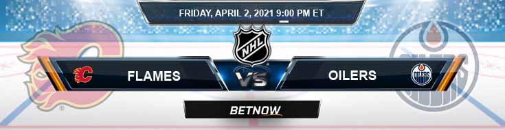 Calgary Flames vs Edmonton Oilers 04-02-2021 Game Analysis NHL Spread & Odds
