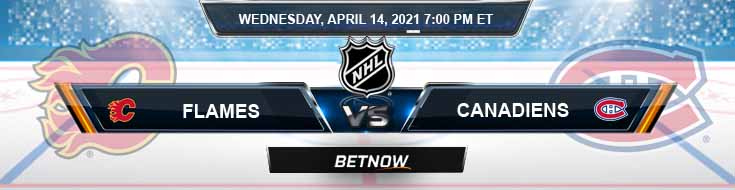 Calgary Flames vs Montreal Canadiens 04-14-2021 Forecast Hockey Betting & Odds