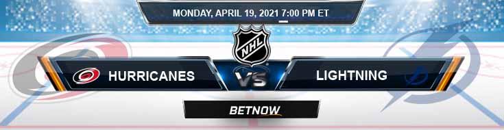 Carolina Hurricanes vs Tampa Bay Lightning 04-19-2021 Game Analysis NHL Picks & Odds
