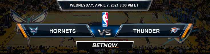 Charlotte Hornets vs Oklahoma City Thunder 4-7-2021 NBA Odds and Picks