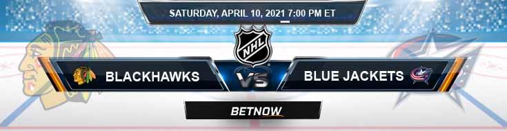 Chicago Blackhawks vs Columbus Blue Jackets 04-10-2021 Game Analysis Odds & NHL Spread