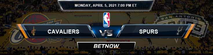 Cleveland Cavaliers vs San Antonio Spurs 4-5-2021 NBA Spread and Picks