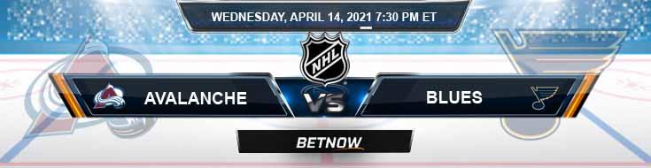 Colorado Avalanche vs St. Louis Blues 04-14-2021 Results NHL Picks & Previews