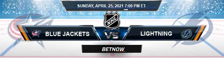 Columbus Blue Jackets vs Tampa Bay Lightning 04-25-2021 Game Analysis NHL Odds & Spread