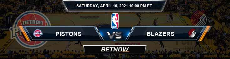 Detroit Pistons vs Portland Trail Blazers 4-10-2021 NBA Spread and Picks