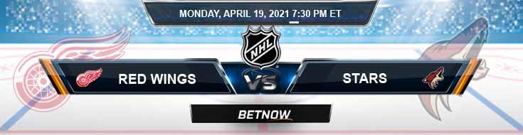 Detroit Red Wings vs Dallas Stars 04-19-2021 NHL Predictions Spread & Picks