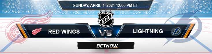 Detroit Red Wings vs Tampa Bay Lightning 04-04-2021 Spread NHL Odds & Picks