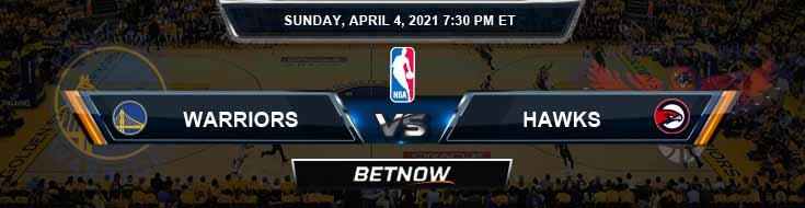 Golden State Warriors vs Atlanta Hawks 4-4-2021 NBA Spread and Picks