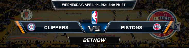 Los Angeles Clippers vs Detroit Pistons 4-14-2021 NBA Spread and Picks