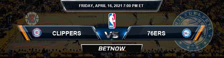 Los Angeles Clippers vs Philadelphia 76ers 4-16-2021 NBA Odds and Picks