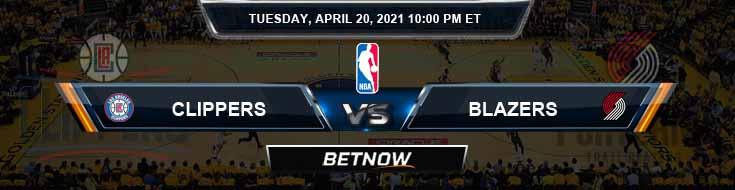 Los Angeles Clippers vs Portland Trail Blazers 4-20-2021 NBA Odds and Picks