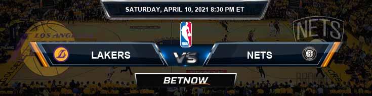 Los Angeles Lakers vs Brooklyn Nets 4-10-2021 NBA Spread and Picks