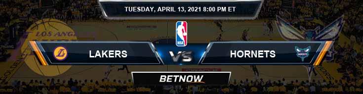 Los Angeles Lakers vs Charlotte Hornets 4-13-2021 NBA Spread and Picks