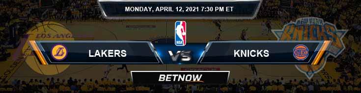 Los Angeles Lakers vs New York Knicks 4-12-2021 NBA Spread and Picks