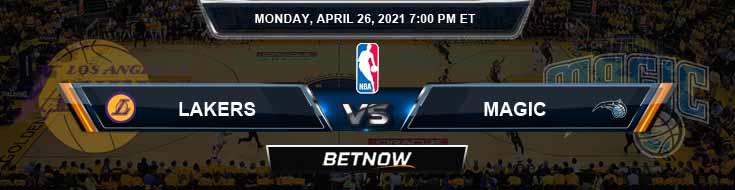 Los Angeles Lakers vs Orlando Magic 4-26-2021 NBA Spread and Picks