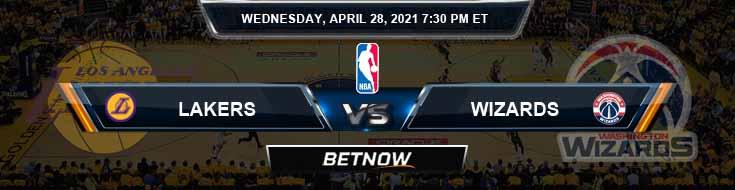 Los Angeles Lakers vs Washington Wizards 4-28-2021 NBA Odds and Picks