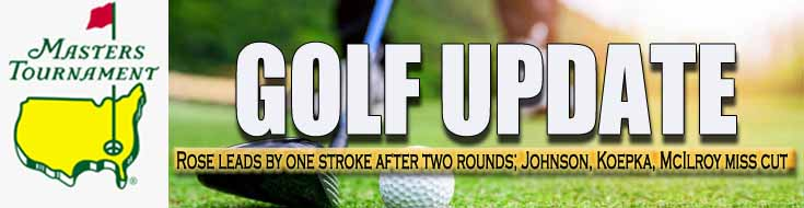 Masters Golf Update Rose Leads by One Stroke After Two Rounds Johnson Koepka McIlroy Miss Cut