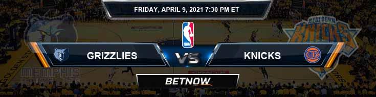 Memphis Grizzlies vs New York Knicks 4-9-2021 NBA Picks and Previews