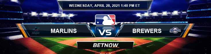 Miami Marlins vs Milwaukee Brewers 04-28-2021 Baseball Odds Picks and MLB Predictions
