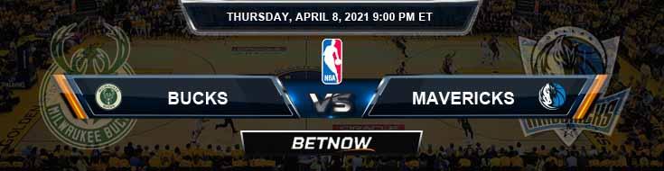 Milwaukee Bucks vs Dallas Mavericks 4-8-2021 NBA Spread and Picks