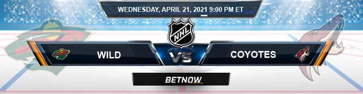Minnesota Wild vs Arizona Coyotes 04-21-2021 NHL Predictions Picks & Previews
