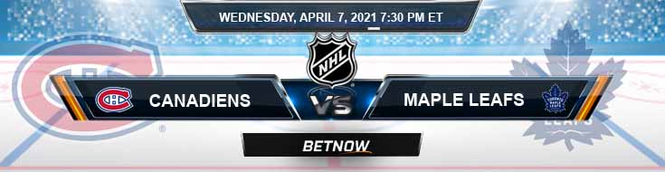 Montreal Canadiens vs Toronto Maple Leafs 04-07-2021 NHL Betting Tips Previews & Predictions