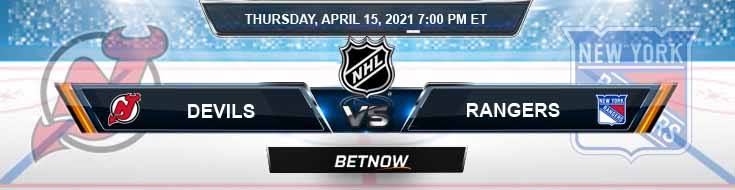New Jersey Devils vs New York Rangers 04-15-2021 Game Analysis Spread & NHL Odds