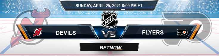 New Jersey Devils vs Philadelphia Flyers 04-25-2021 NHL Spread Odds & Results