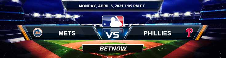 New York Mets vs Philadelphia Phillies 04-05-2021 Odds MLB Picks and Predictions
