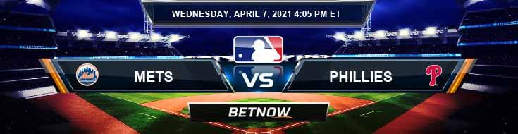 New York Mets vs Philadelphia Phillies 04-07-2021 Game Analysis Baseball Betting and MLB Tips