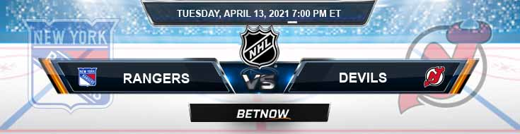 New York Rangers vs New Jersey Devils 04-13-2021 NHL Previews Spread & Game Analysis
