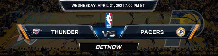 Oklahoma City Thunder vs Indiana Pacers 4-21-2021 NBA Odds and Picks