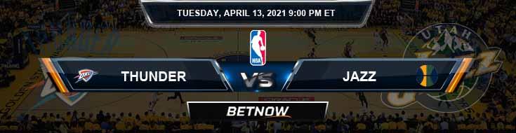 Oklahoma City Thunder vs Utah Jazz 4-13-2021 NBA Spread and Prediction