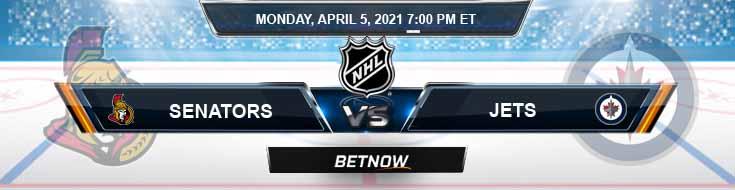 Ottawa Senators vs Winnipeg Jets 04-05-2021 NHL Betting Previews & Picks